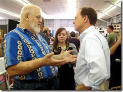 Blue shirt voter - Toomey