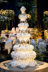 A cake fit for a faitytale wedding in the woods. Photo property of VF.com