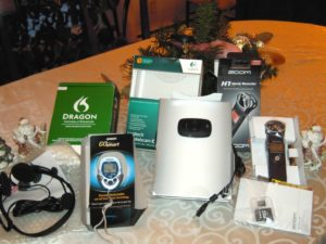 The technology bounty of just one Christmas...half of which was never used. Technology recycling day was an eye opener.