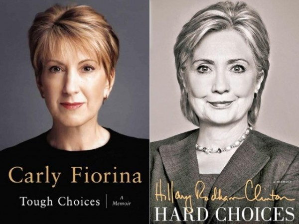 Fiorina and Clinton book covers